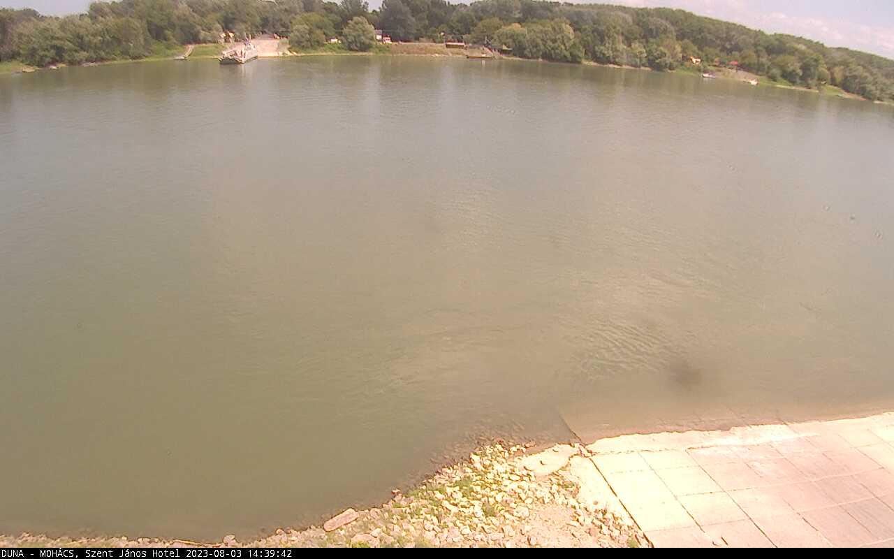Mohács Duna-part webkamera